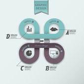 Modern infographics data — Vetorial Stock