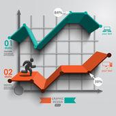 Man running up, schedule data — Stock Vector