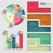 Set of colored elements of business charts — Stock Vector