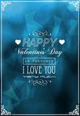 Card Happy St. Valentine — Stock Vector