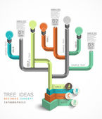 Ideas tree business concept infographics — Stock Vector