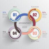 Circular corporate design your presentation — Stockvektor