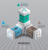 3d vector infographics — Stock Vector