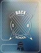 Back to school, pencils crossed — Stock Vector