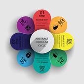 Infographics olarak çok renkli çiçek — Stok Vektör