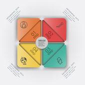 Vector design element paper infographic — Stock Vector