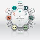 Vector pie chart infographic template — Stock Vector