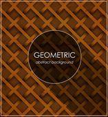 Geometric abstract retro brown design template — Vector de stock