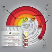 Pie chart line circle percent complete indicators — 图库矢量图片