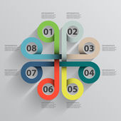 Circular color infographic — Stock Vector