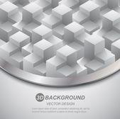 3d columns concept background — Vector de stock
