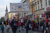 "Begin of the carnival parade called ""Ehrenfelder Dienstagzug"". — Stock Photo"