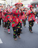 Band as part of the carnival parade — Stock Photo
