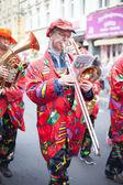 Musician in carnival parade — Stock Photo