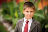 Boy in suit and tie — Stock Photo