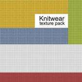 Knitwear texture pack — ストックベクタ