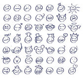 Smiley faces emoticons — Stock Vector
