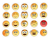 Smiley faces emoticons set — Stock Vector