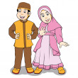 Moslem children — Stock Vector