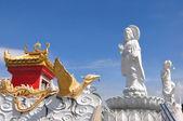Kuan Yin image of buddha Chinese art — Stock Photo