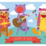 Sing cat — Stock Vector #41741505