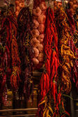 Fruits and vegetables stall in La Boqueria, — Stock Photo