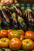 Fruits and vegetables stall in La Boqueria, — Stockfoto
