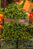 Fruits and vegetables stall in La Boqueria, — Foto de Stock