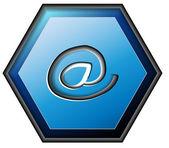 E-mail contact button — Stock Vector