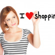 Stock Photo: I love shopping