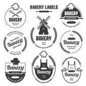 Bäckerei Etiketten 1 — Stockvektor