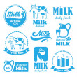 Milk labels — Stock Vector #44711497