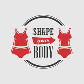 Shape your body — Stock Vector