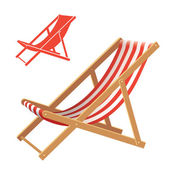Deck chair — Stock Vector