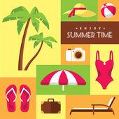 Summer icons set 2 — Vector de stock