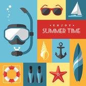 Summer icons set 1 — Stock Vector