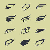 Wings icons — Stock Vector
