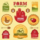 Farm labels — Vector de stock