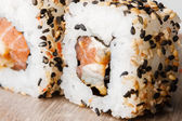 Sushi japanese  roll  japan meal fresh — Stock Photo