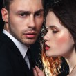 Young and beautiful couple — Stock Photo