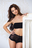 Picture of seductive woman in sexy lingerie — Stock Photo