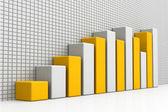 3d business tillväxt diagram — Stockfoto