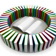 Stack of colorful real books — Stock Photo