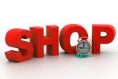 Shopping time concept — Stock Photo