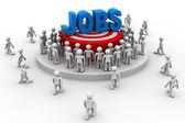 Jobs target around people — ストック写真