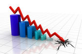 Graph showing business decline — Stock Photo