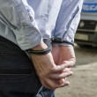 Постер, плакат: Bussinessman in handcuffs