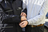 The arrest of a man — Stock Photo