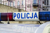 Polish Police sign — Stock Photo