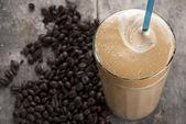 Ice cold coffe greek speciality frape — Stock Photo